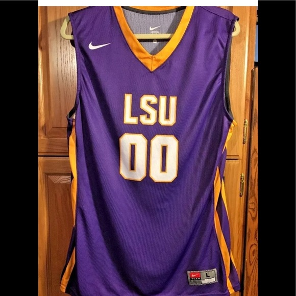 b74048aca6e NIKE New Men LSU Tiger Basketball Jersey Large